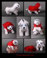 Plushie Commission: Deveras the Puppy by Avanii