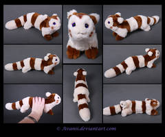 Plushie Commission: Furret the Pokemon by Avanii