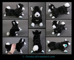 Plushie Commission: Snow the Dog by Avanii