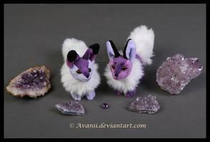 Amethyst Beanie Foxes by Avanii