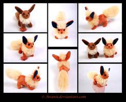 SOLD Plushie: Flareon Beanie (Pokemon) by Avanii