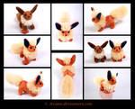 SOLD Plushie: Flareon Beanie (Pokemon)