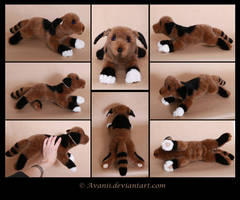 Plushie Commission: Diffy the Dog by Avanii