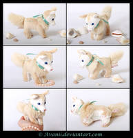 Plushie: Pearl Puppy Beanie by Avanii