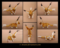 Plushie Commission: Samm the Fantasy Critter by Avanii
