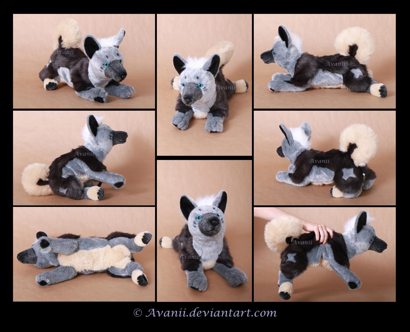 Plushie Commission: Punk the Dog by Avanii