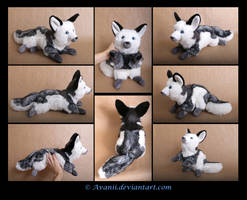 Plushie Commission: Trots the Marble Fox by Avanii
