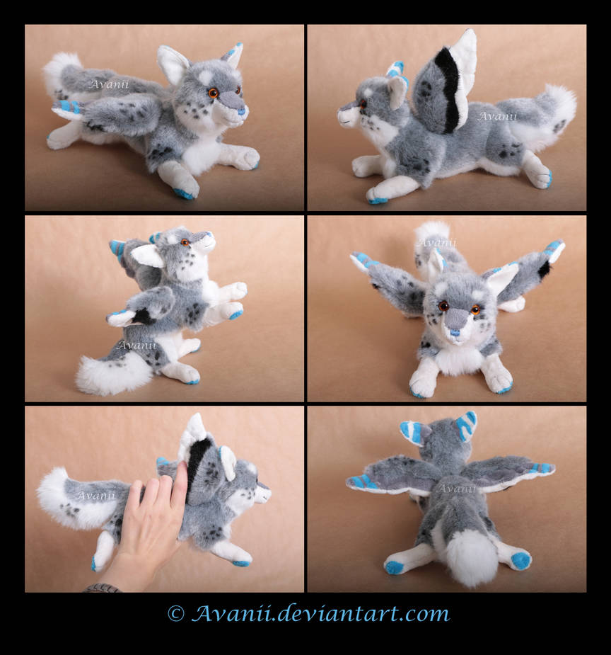 Plushie Commission: Sketch the Winged Wolf by Avanii