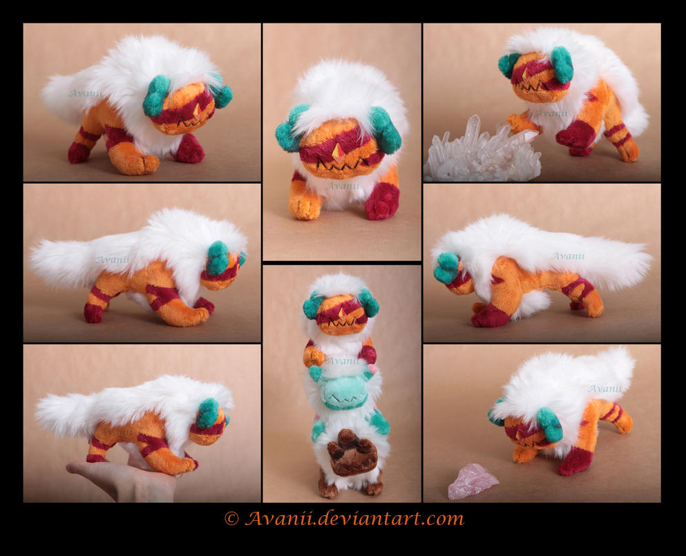 A 15 cm plushie of Jasper from Steven Universe (in her corrupted form, though simplified) for I had already made the two other monsters and was thinking of making Jasper too, when this commission c...