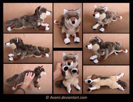 Plushie Commission: Italian Wolf
