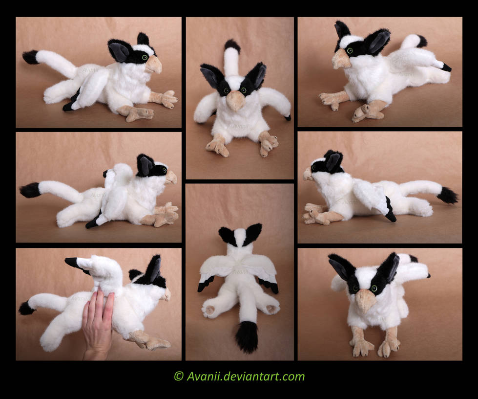Plushie Commission: Gryphon by Avanii