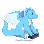 Commission: Fight Stick Dragon by Avanii