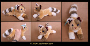 Plushie Commission: Dragonblaze the Cat