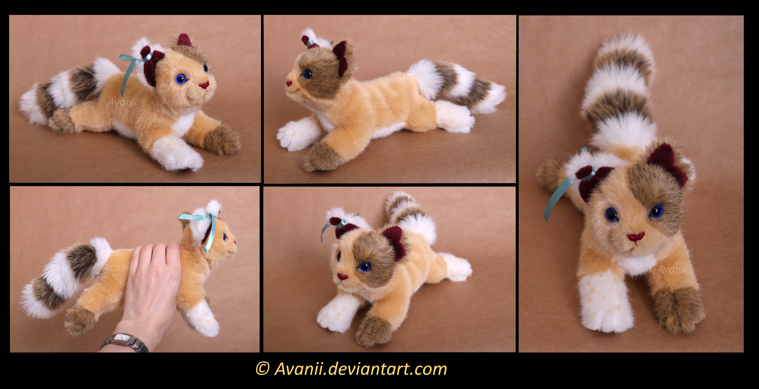 Plushie Commission: Dragonblaze the Cat by Avanii