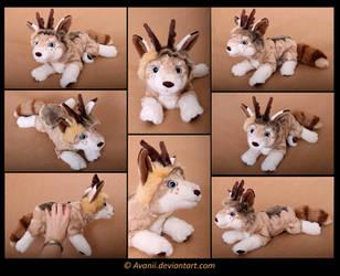 Plushie Commission: Ashton the Dog by Avanii