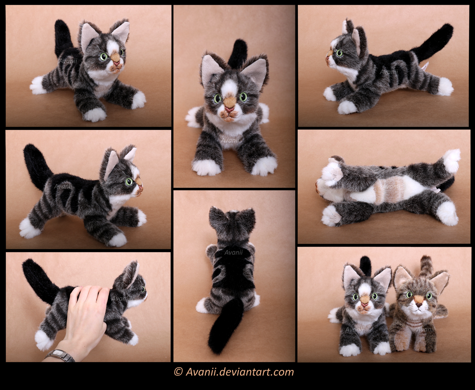Plushie Commission: Miepie the Cat by Avanii