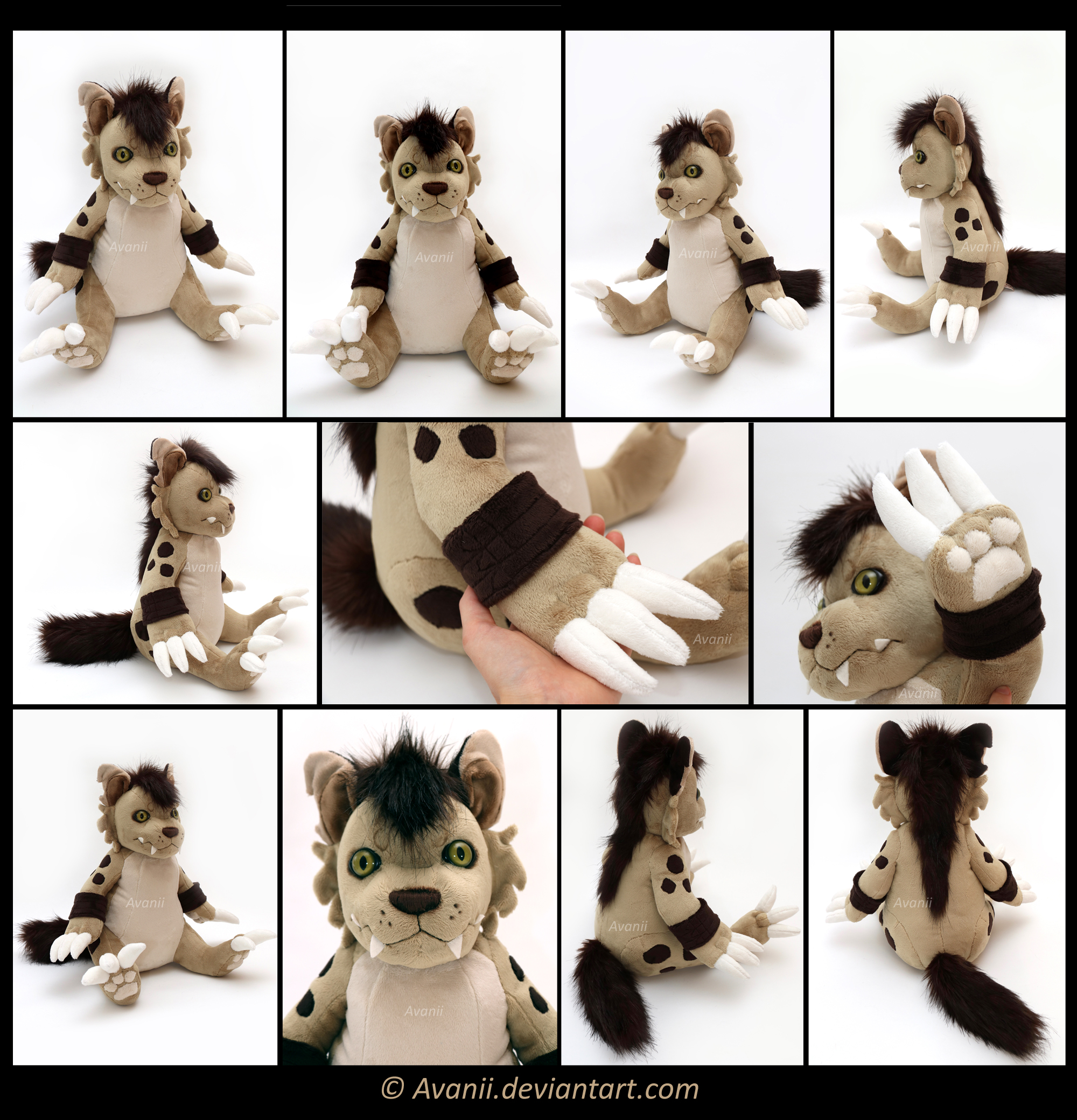 Plushie Commission: Hyenamon by Avanii