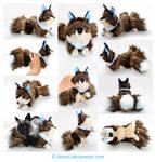 Plushie Commission: Blue-Eyed Kitsune