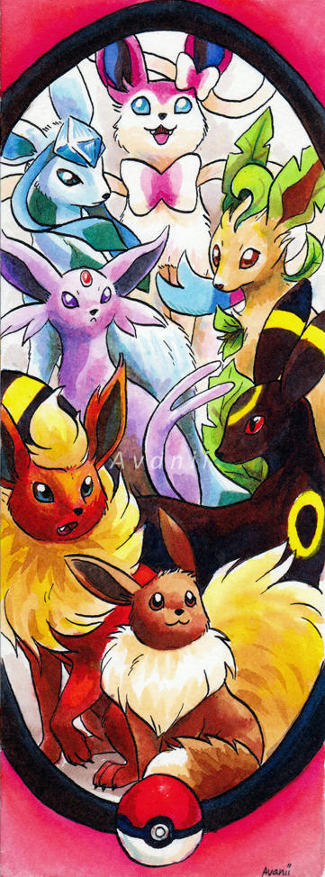 Bookmark Commission: Eeveelutions