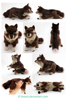 Plushie Commission: Adamar the Wolf