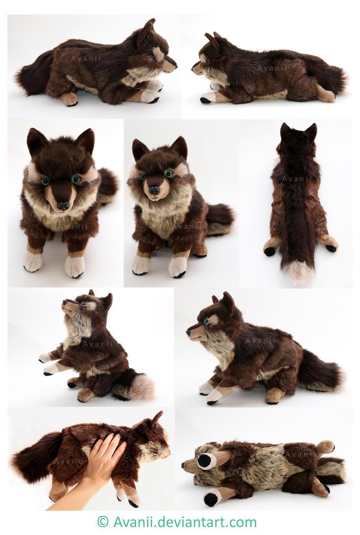 Plushie Commission: Adamar the Wolf by Avanii