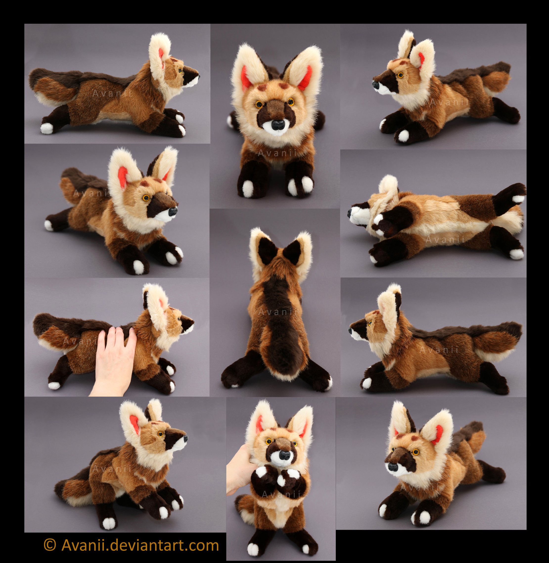 Plushie Commission: Akamai the Jackal by Avanii