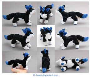 Plushie Commission: Storm Lily the Wolf