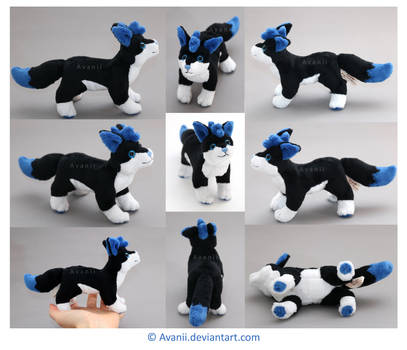 Plushie Commission: Storm Lily the Wolf by Avanii