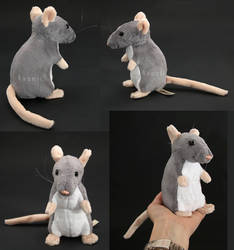 Plushie: Grey Rat