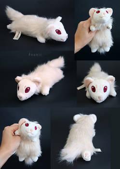 Plushie: Albino Ferret Floppy