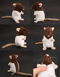 Plushie: Brown Hooded Rat