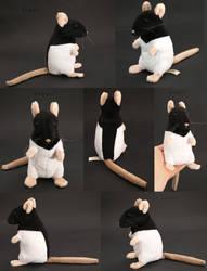 Plushie: Black Hooded Rat