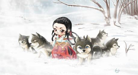 Lobos na neve by saulom