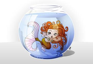 Mermaid in Aquarium by saulom