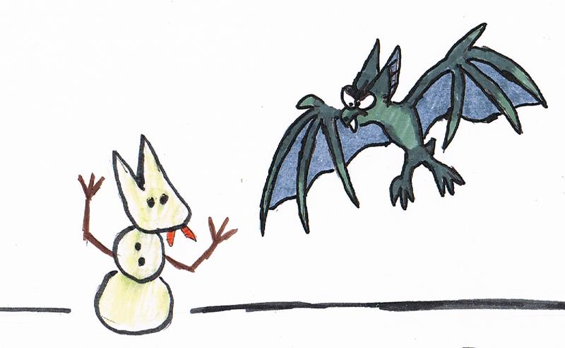 Snow bat by sinako777