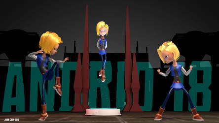 Android 18 character rig test by amokk20