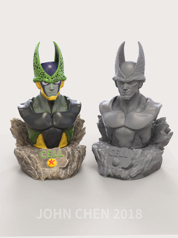 Perfect Cell Bust - Free STL for printing by amokk20