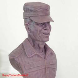 Bill Paxton tribute sculpt by amokk20