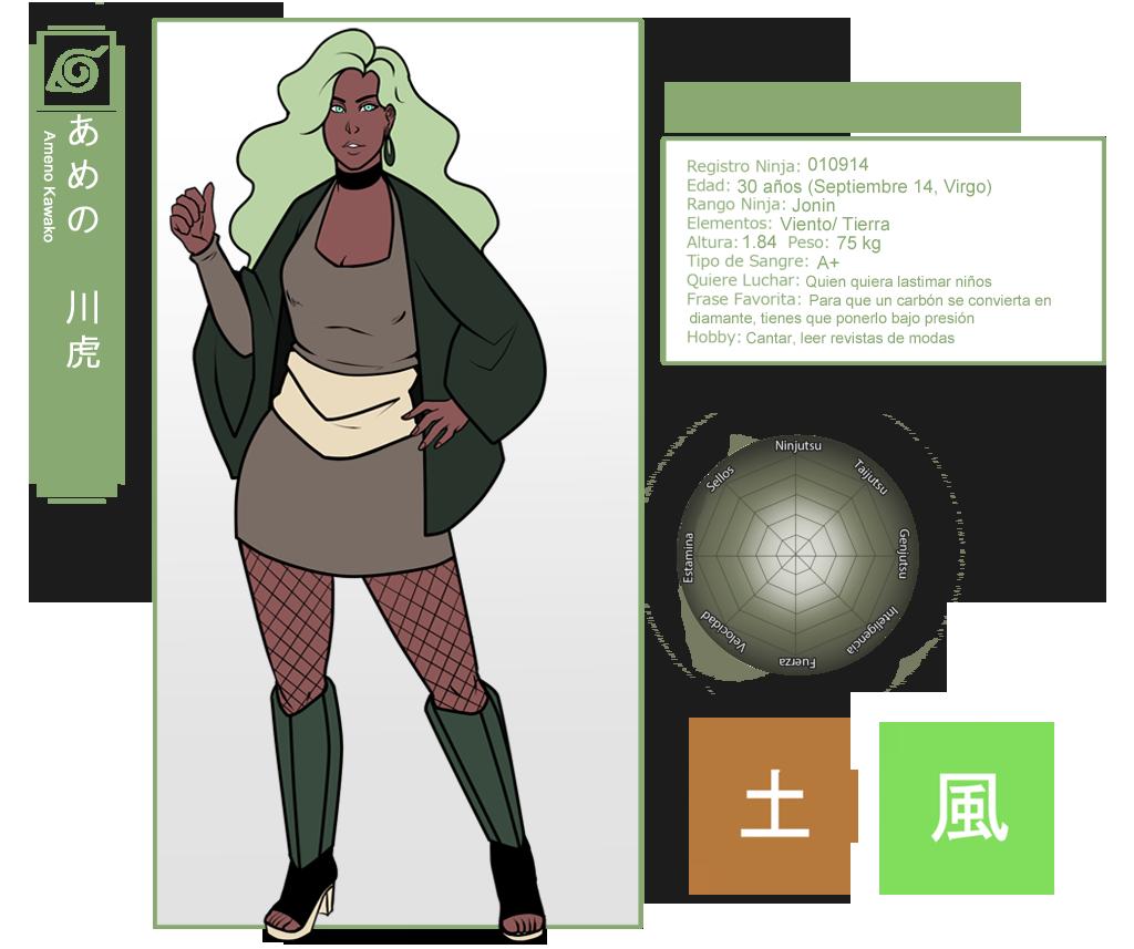 Shinobi Tales: Ameno Kawako by Arerethousa