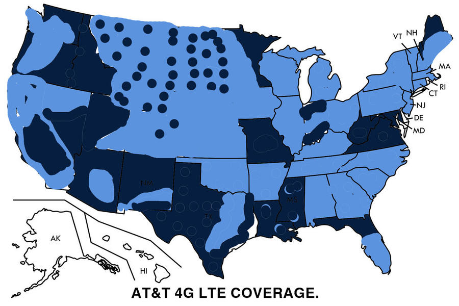 ATT 4G LTE Coverage Map by ChrisSalinas35 on DeviantArt  G Coverage Map Att on sprint coverage map, att hspa coverage map, t-mobile coverage map, att 3g map, att hotspot coverage map, att 2g coverage map, att dsl coverage map, att phone coverage map, verizon coverage map, att data coverage map, 4g lte map, att mobile coverage map, att lte advanced coverage map, at&t map,
