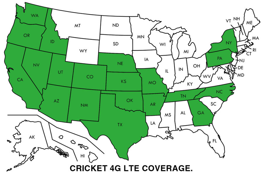 Cricket 4g Lte Coverage Map By Chrissalinas35 On Deviantart: Cricket Coverage Map At Infoasik.co