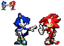 Red Flash and Aqua Posing by firenamedBob