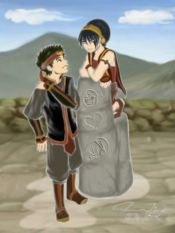Are similar Aang e toph sexy image confirm. was