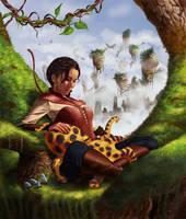 Katniss on a tree