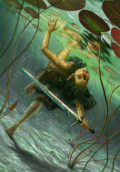 Lady of the Lake Gwent Card