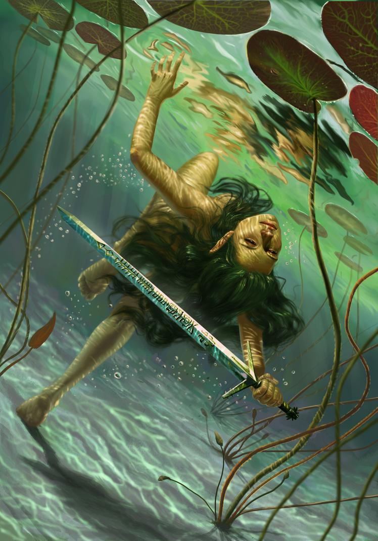 Lady of the Lake Gwent Card by DanielaIvanova