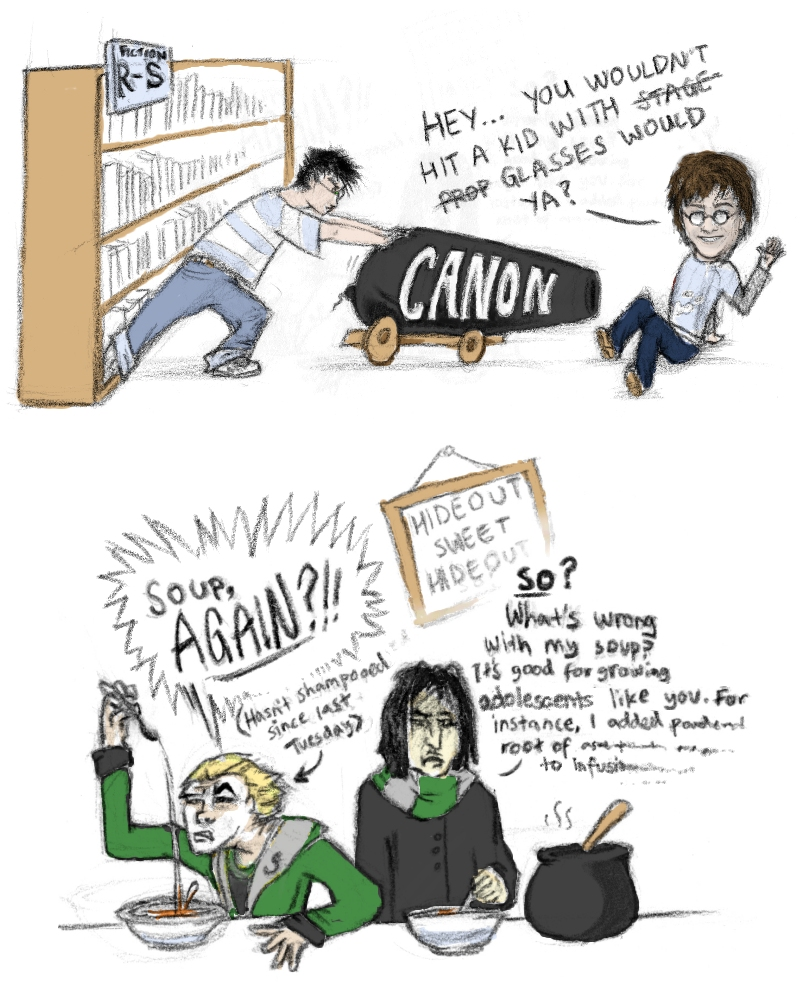 Canon Harry + Draco on the run by redwattlebird on DeviantArt Daniel Radcliffe Movies