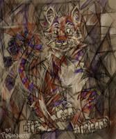 Cubist Kougra by redwattlebird