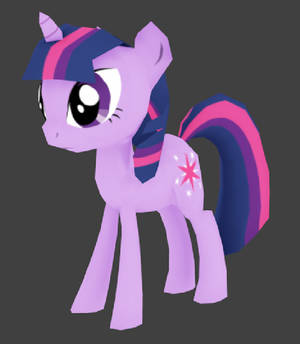 My little pony- Twilight Sparkle- lowpoly textured