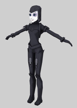 Low poly cyber girl (WIP)